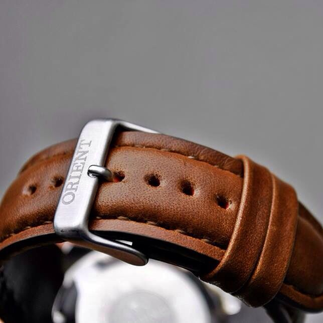 Handmade leather strap for Orient watch- christianstraps@gmail.com