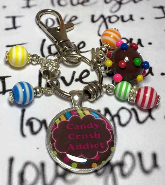 Candy Crush keyring keychain bag charm Candy by Fizzbombkeyrings