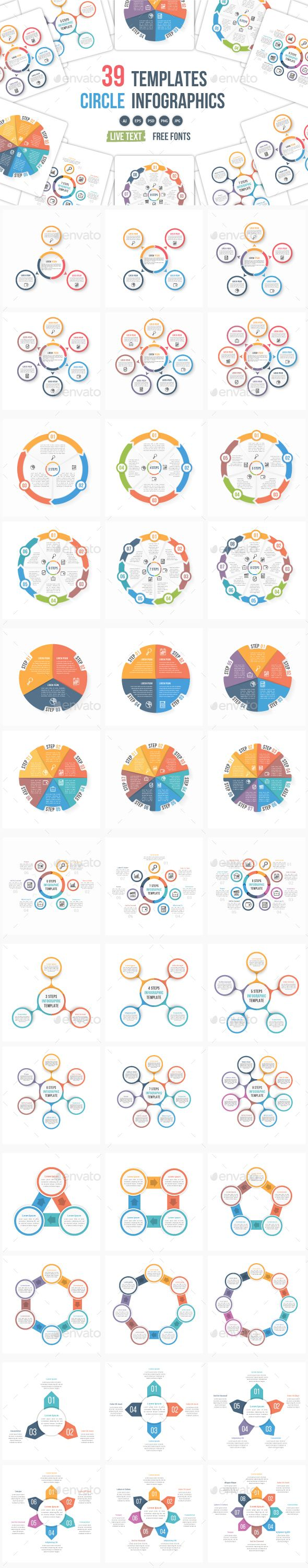 39 Circle Infographic Templates Bundle — Photoshop PSD #presentation #info • Download ➝ https://graphicriver.net/item/39-circle-infographic-templates-bundle/19939125?ref=pxcr