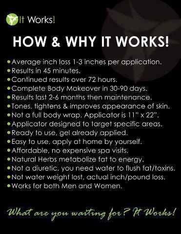 Ever wondered HOW those crazy wrap things work? For more info contact me at staceysherman.myitworks.com or Facebook.com/getsexyinkc
