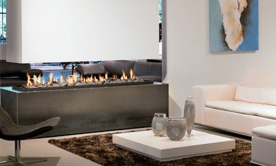 19 best free standing fireplaces images on pinterest for Hogares modernos a gas
