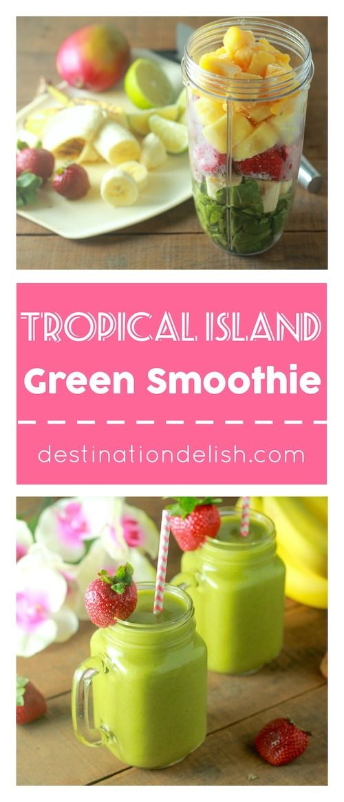 Tropical Island Green Smoothie