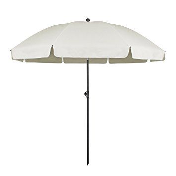 Sekey® Sonnenschirm Ø 240 cm Marktschirm Gartenschirm Terrassenschirm Sonnenschutz UV25+ Taupe Rund: Amazon.de: Küche & Haushalt