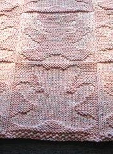 Ravelry: Teddy Bear Baby Blanket pattern by Barbara Breiter - this is a great pattern - I made it in cream, and it is beautiful
