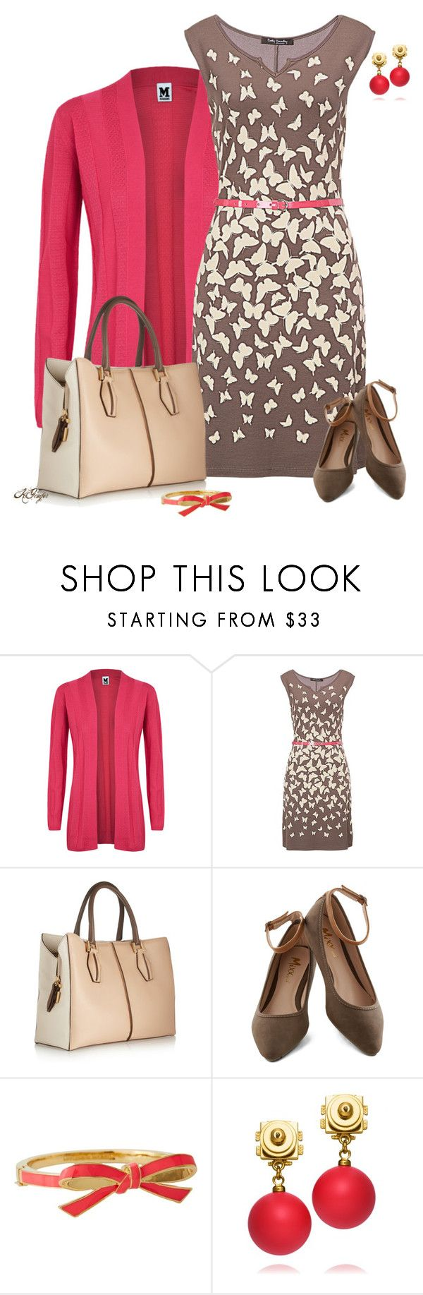 """""""Butterfly Dress Contest"""" by kginger ❤ liked on Polyvore featuring M Missoni, Betty Barclay, Tod's, Kate Spade and Tory Burch"""