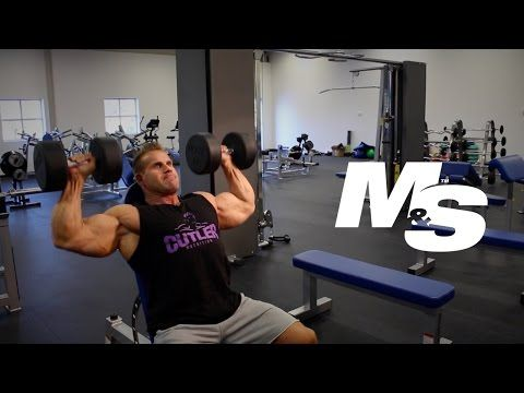 Muscle & Strength: Jay Cutler's Training Tips: Dumbbell Shoulder Press Technique