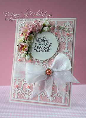 Flowers, Ribbons and Pearls: Spellbinders Fabulous Fretwork
