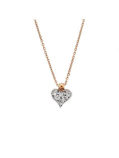 Κολιέ Ροζ Χρυσό 18Κ με Διαμάντια Αναφορά 022594 Ένα γυναικέιο κολιέ που μπορείτε να χαρίσετε σε μια γυναίκα .Αποτελείται από ένα μενταγιόν καρδιά πάνω σε μια αλυσίδα και είναι κατασκευασμένο από Χρυσό 18Κ σε ροζ χρώμα.Οι πέτρες που το διακοσμούν είναι πολύτιμες (διαμάντια) και έχουν χρώμα λευκό