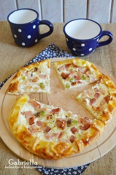Gabriella kalandjai a konyhában :): Tejfölös-szalonnás galette