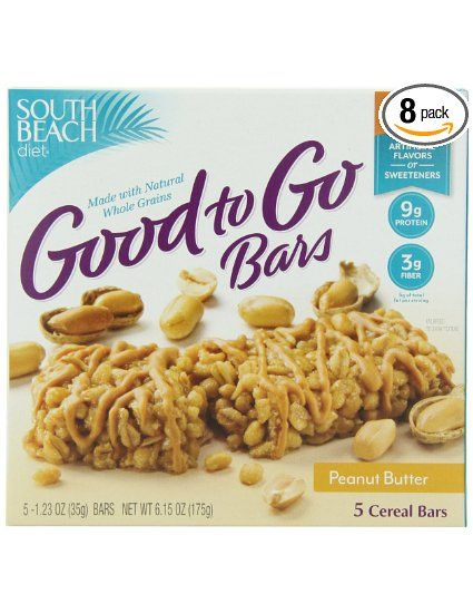 South Beach Diet Good To Go Cereal Bar, Peanut Butter, 5-Count (Pack of 8): Amazon.com: Grocery & Gourmet Food