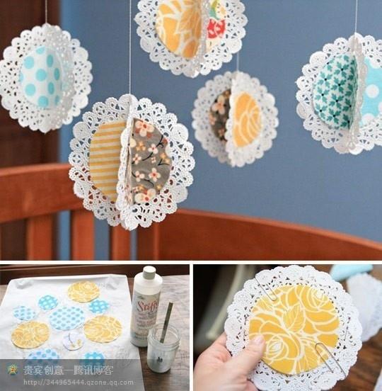 Paper doily decor for a Tea Party