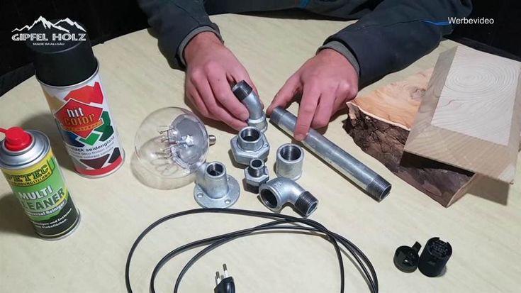 rohrlampe selber bauen rohrlampe bauen rohr lampen. Black Bedroom Furniture Sets. Home Design Ideas