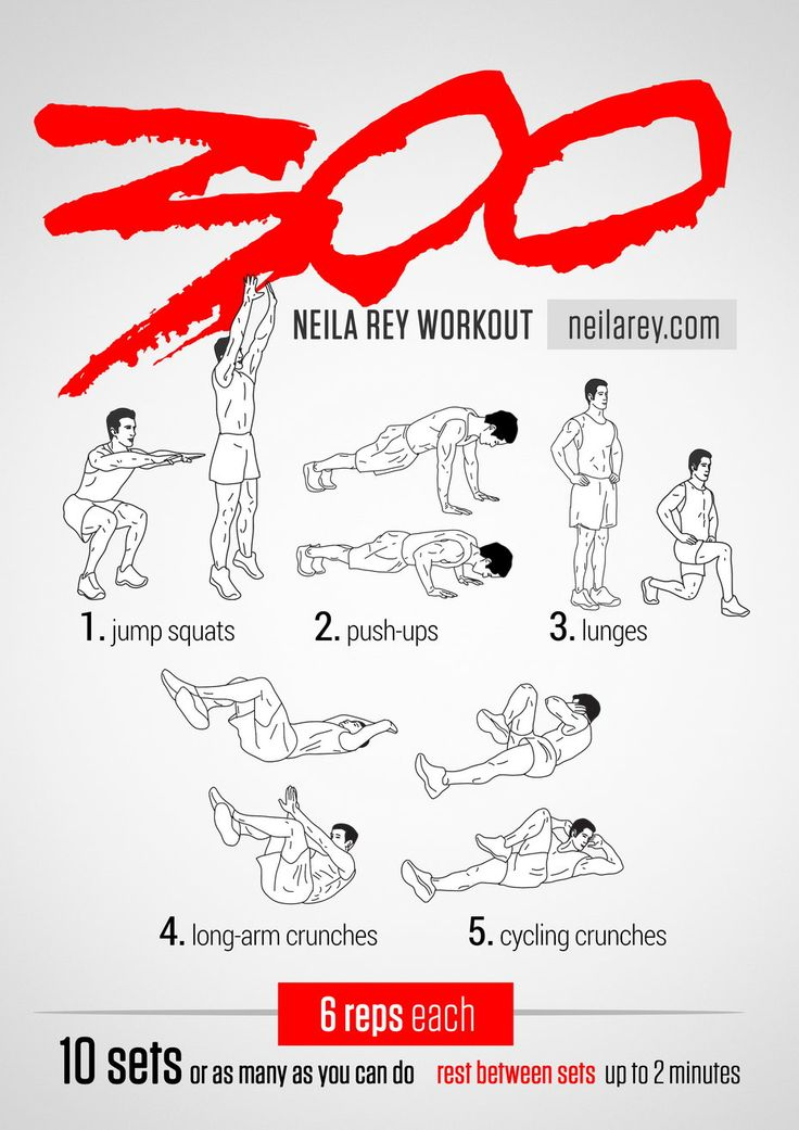 300 Workout / 2014 Revised / Works: Quads, chest, triceps, lower abs, upper abs                                                                                                                                                                                 More