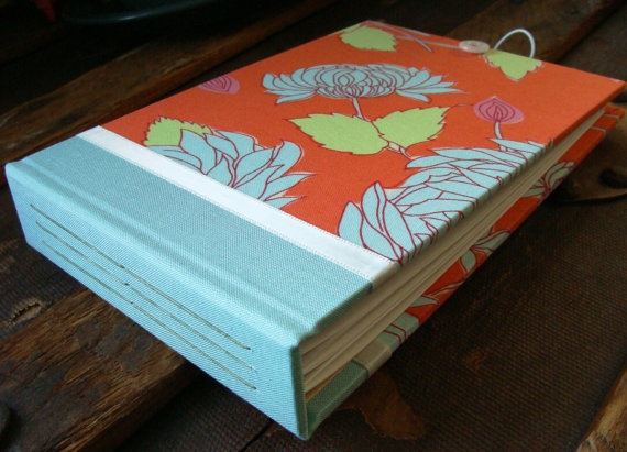 in tangerine fabric 4x6 photo album by paperseed - 4x6 Photo Albums