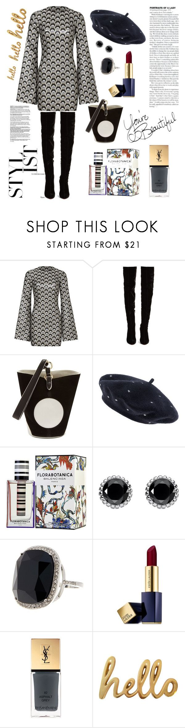 """Salut!"" by waltos ❤ liked on Polyvore featuring Rubin Singer, Christian Louboutin, Diane Von Furstenberg, Accessorize, Balenciaga, Thomas Sabo, Ariella Collection, Estée Lauder, Yves Saint Laurent and Bombay Duck"