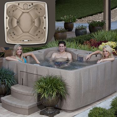 """Hot Tub, DreamMaker Big EZ Spa Combo""    portable, durable, and affordable  Comes with FREE Spa Cover, Spa Steps, Bromine Spa Chemical Start-Up Kit, and One-Year Supply of Bromine Tablets!"
