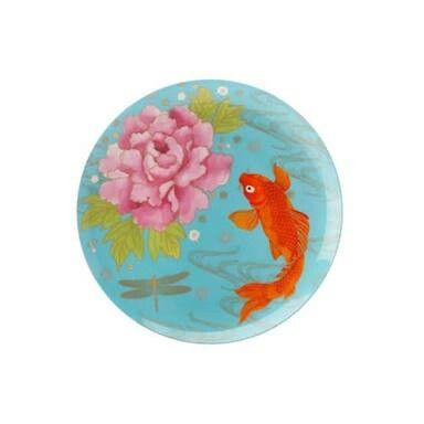 Meraki goldfish teal plate.  Maxwell and Williams.