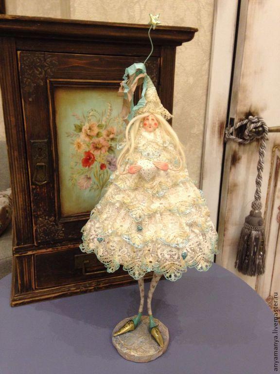 Купить Елка Невеста - елка, Новый Год, ангел, белый, авторская ручная работа