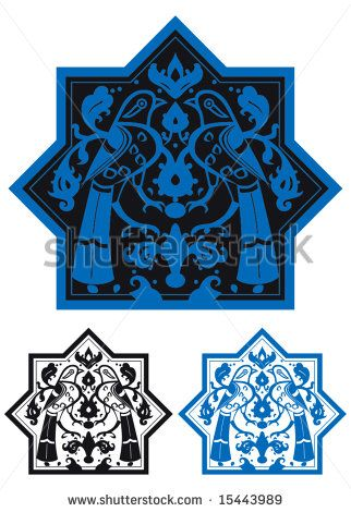 Traditional Seljuk Motif (Kubadabad) - stock vector