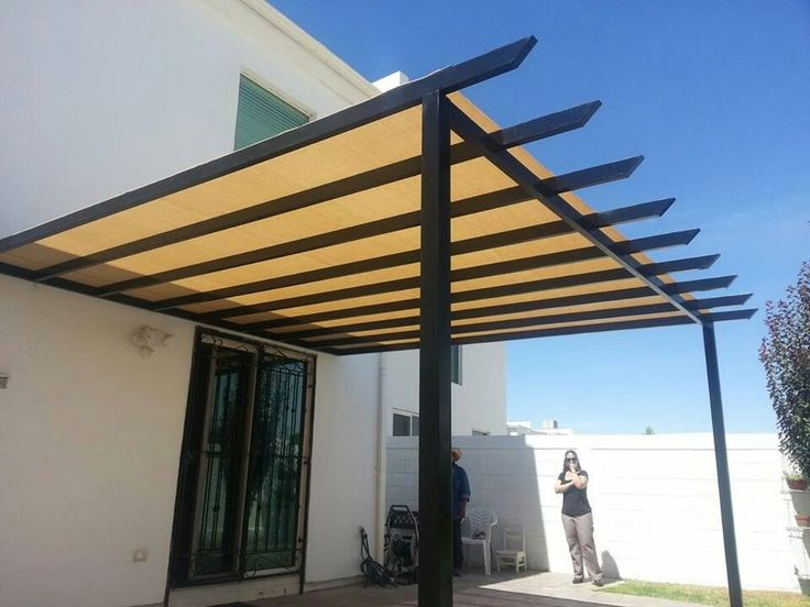 Pergola metalica furniture home design ideas Tipos de techos ligeros para casas