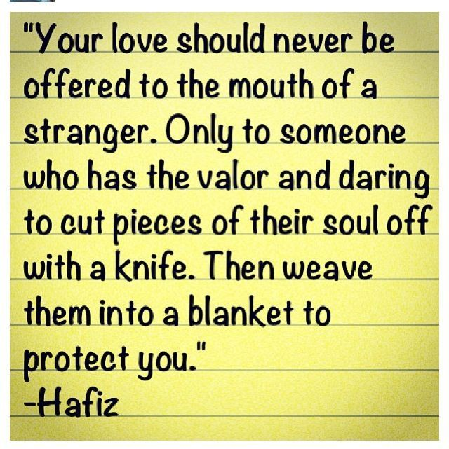 Hafiz Quotes: HAFIZ - Your Love Offered