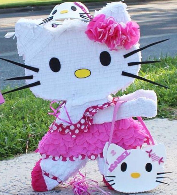 Hello Kitty pinata #Handmade #birthdaygirl
