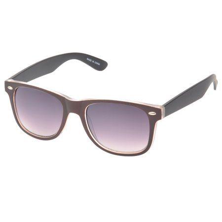 54281afedcd nice MLC Eyewear  Barton  Retro Horn Rimmed Fashion Sunglasses in Brown