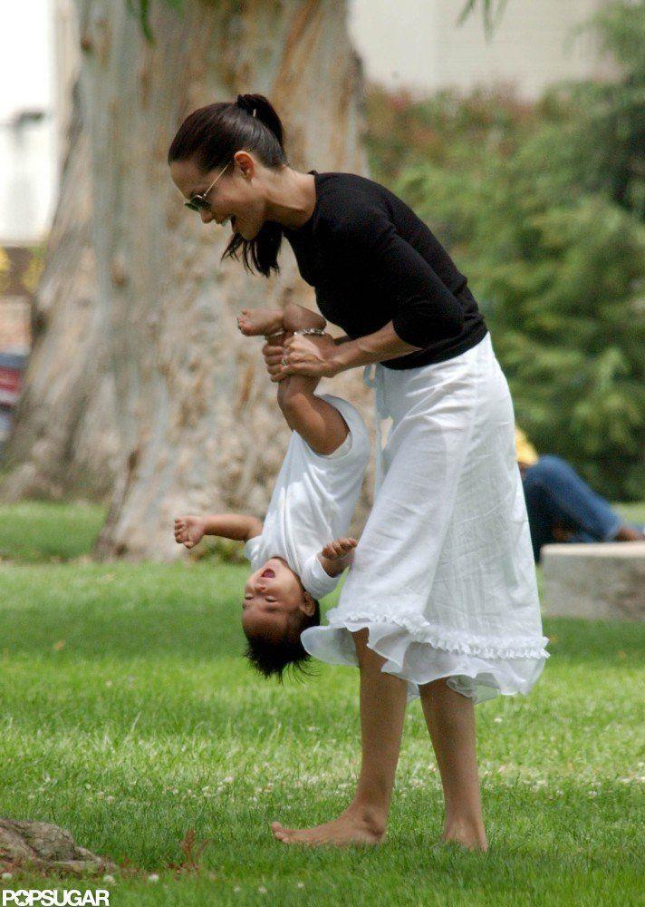 Angelina Jolie with son Maddox (2002)