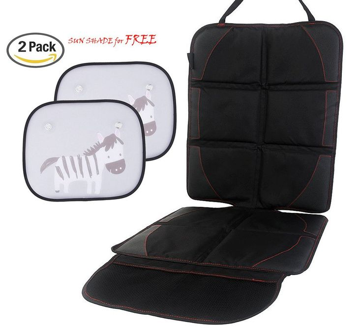 Tofern Anti-Slip Auto Car Seat Protector Cover Child Baby Seat Protector Mat With Storage Pouches, black. 600D polyester and faux leather PU material applied, anti-slip, safe and durable. Effective to protect car seat from dust, water, dirt, and scratch, make it more comfortable, and also a perfect decoration for it. Suitable for most types of car and baby seat, and easy to be install and fix. Mesh Storage pockets included, convenient to store and organize small items. Comes with one pair…