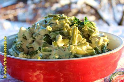 Salata cu fasole verde si smantana