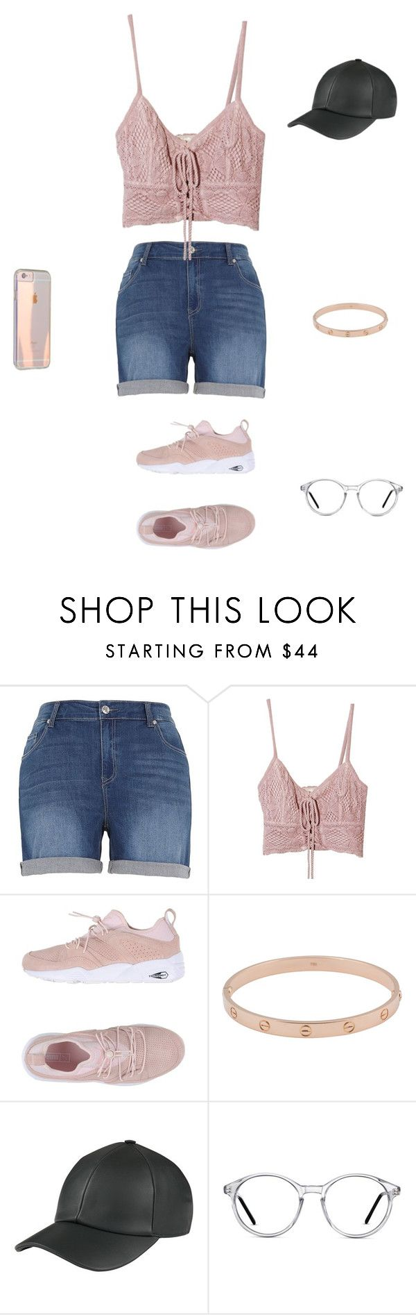 """Cool summer outlook"" by liyahh000 ❤ liked on Polyvore featuring Melissa McCarthy Seven7, Jens Pirate Booty, Puma, Cartier and GlassesUSA"