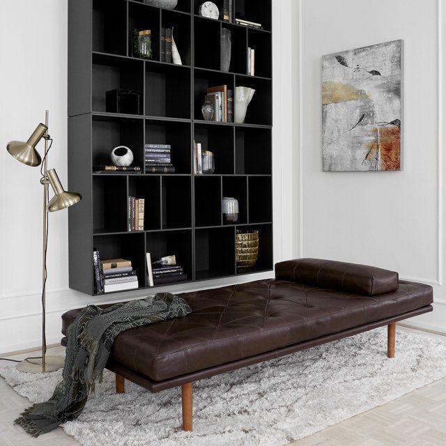 Un daybed en cuir pour un style industriel, BoConcept - Marie Claire Maison