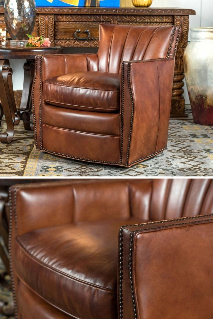 Swivel Chair In Spanish Eastern Butcher Block Table And Chairs Channel Back Rusticfurniture Homefurniture Spanishstyle