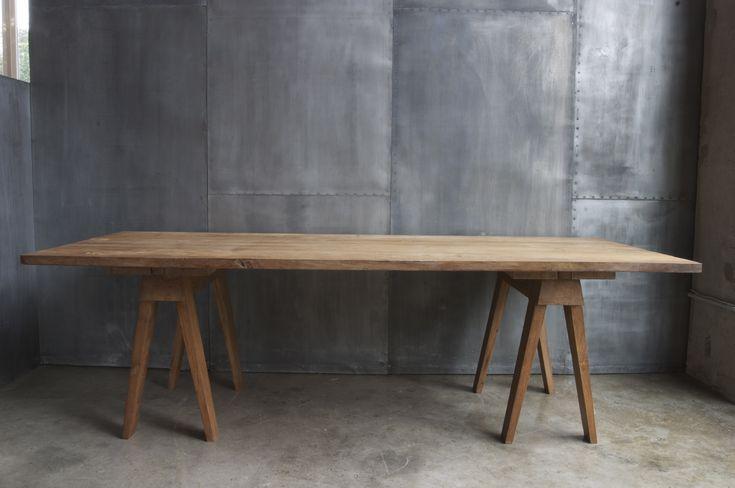 M s de 1000 ideas sobre mesa caballete en pinterest - Mesas con caballetes ...