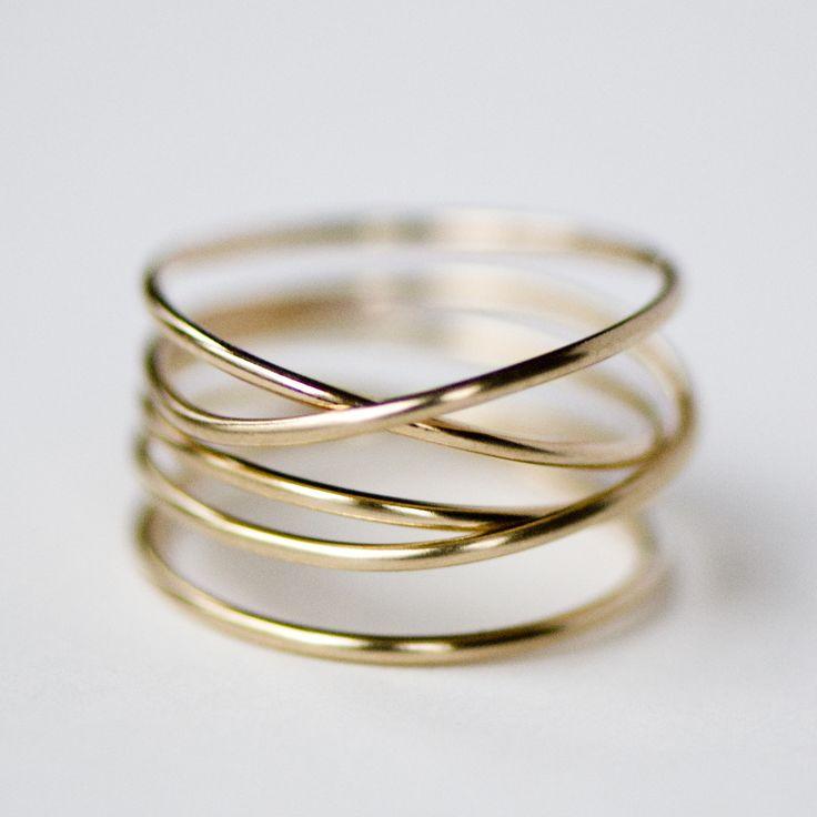 Gold Wrap Ring by Britta Ambauen   Ethical Ocean