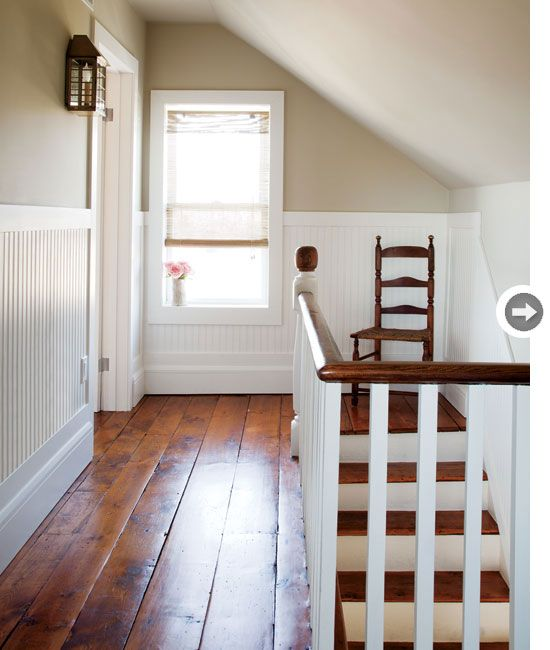 styleathome: Pine plank hardwood floors {PHOTO: Donna Griffith} Read more here: http://www.styleathome.com/homes/interiors/interior-country...