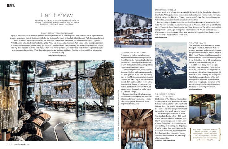 Chalet Zermatt Peak featuring in Signature magazine April 2015