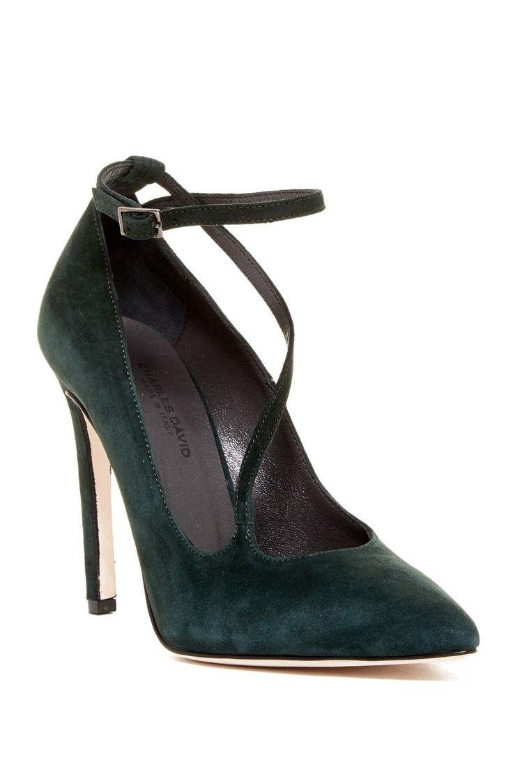Love the green!  Charles David Jenifer Pointy Toe Pump