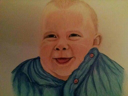 Little smiley Daniel.... Polychromo pencil drawing