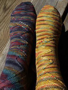 Way Cool Socks!!!  Ravelry: OppAtt pattern by Jeannie Cartmel