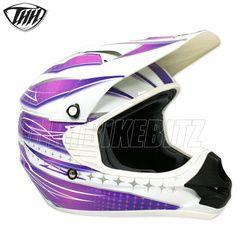 2014 Thh Tx11 Razor Youth Motocross Helmet - White Purple - 2014 Thh Motocross Helmets - 2013 Motocross Gear - by Thh Helmets