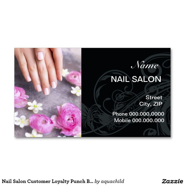 62 best Customized Nail Salon Business cards images on Pinterest ...