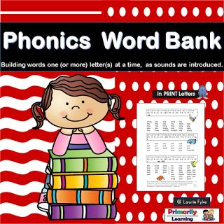 The Best of Teacher Entrepreneurs II: The PHONICS WORD BANK is an amazing resource for programs like Jolly Phonics.