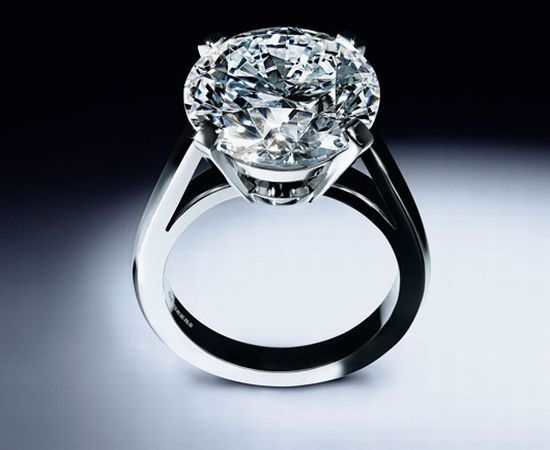 This nine carat round diamond set in  platinum costs 2 million De Beers