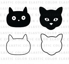 Cat face svg - cat face clipart - cat face digital vector svg, dxf, eps, png  You will receive the following  4 SVG vector files (compatible with Silhouette Studio Cameo, Cricut, etc.) 4 PNG files, Transparent Background - High resolution 300 dpi 4 EPS files, editable with Illustrator and some other design software 4 DXF files  INSTANT DOWNLOAD This is a digital product no physical product