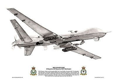 13/39 Squadron Limited Edition Artist-Signed MQ-9 Print £10