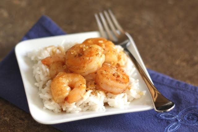 Barefeet In The Kitchen: Spicy Orange Garlic Shrimp
