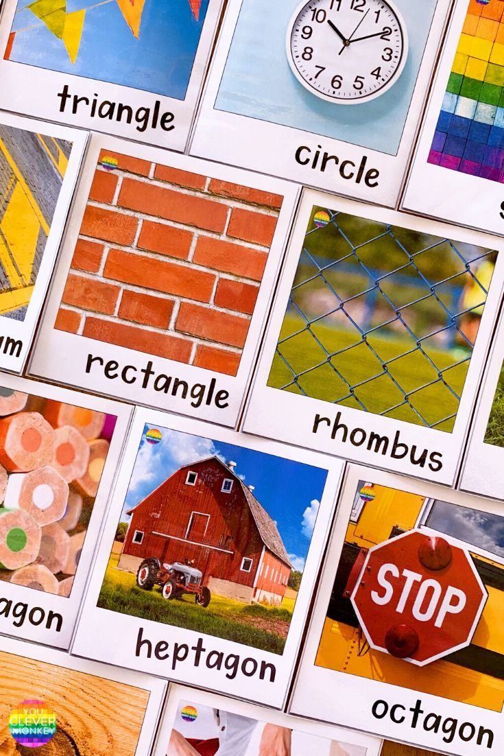2d Shape Posters With Real Life Photos Shape Posters Shapes Lessons 2d Shapes [ 1102 x 735 Pixel ]