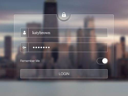Transparent Login Screen by Abdullah Bin Laique Mobile UI Designs and Concepts for Inspiration-42