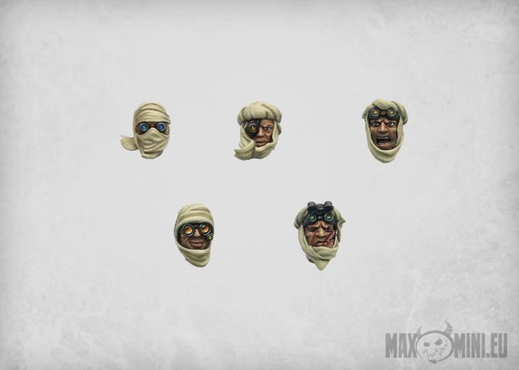 "<p>This set 10 contains 10 head swaps deisgned to fit 28mm ""heroic"" miniatures.</p>"